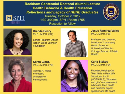 Dr. Carla Featured Alumni Speaker at University of Michigan Rackham Graduate School Centennial Lectures
